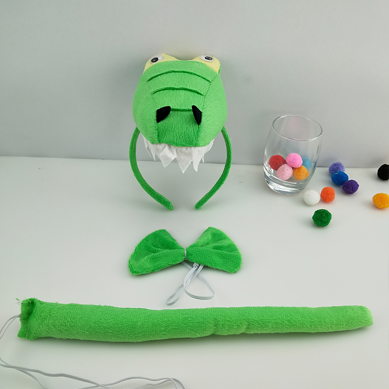 Детская повязка на голову с ушками животных для мальчиков и девочек; комплект с галстуком-бабочкой и хвостом для детей и взрослых; карнавальный костюм; вечерние аксессуары для волос - Цвет: 36