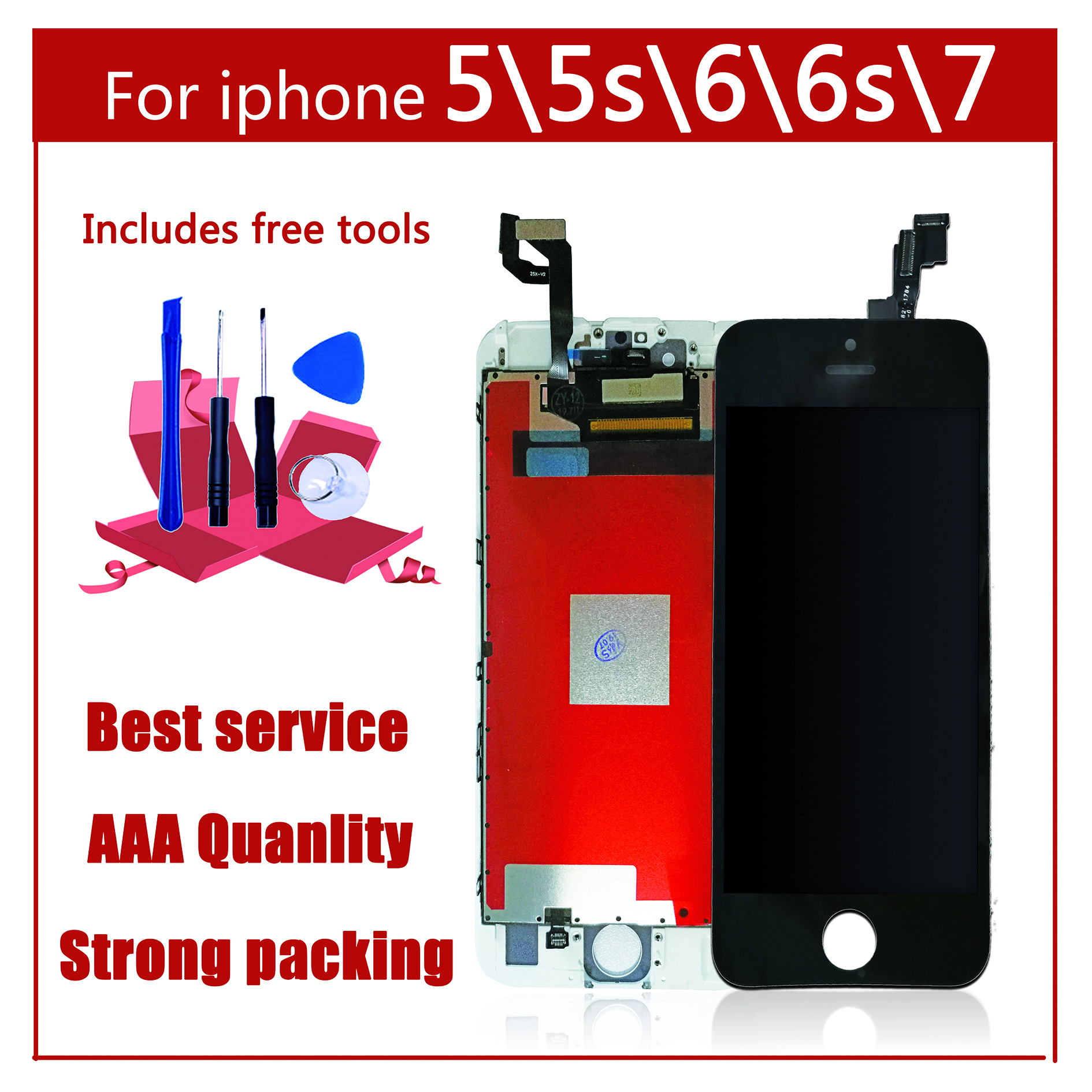 AAA Original Color Screen LCD For iPhone 5 5s 6 6s 7 LCD Display Assembly Digitizer No Dead Pixel With 3D Touch Replacement LCD in Mobile Phone LCD Screens from Cellphones Telecommunications