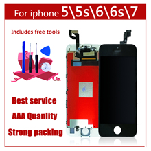 AAA Original Color Screen LCD For iPhone 5 5s 6 6s 7 LCD Display Assembly Digitizer No Dead Pixel With 3D Touch Replacement LCD