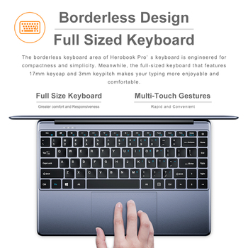 CHUWI HeroBook Pro 14.1Inch Laptop Intel Gemini lake N4020 Dual core 8GB RAM 256GB SSD Windows 10 computer Full Layout Keyboard 5