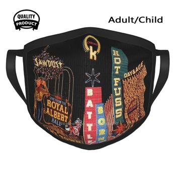 The Killers Las Vegas Signs Designer Black Breathable Reusable Mouth Mask The Killers Las Vegas Hot Fuss Sams Town Sawdust Day image