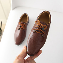 Kids Genuine Leather Shoes for Boys School Show Dress