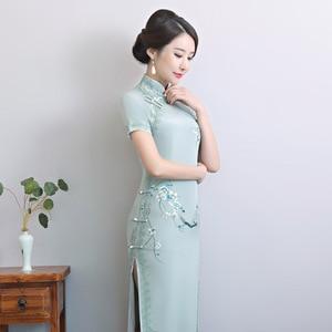 Image 3 - 2020 Vestido De Debutante โรงงานโดยตรงขายใหม่ Retro ตัดมือปักผ้าไหม Cheongsam ขายส่งทุกวันที่ดีขึ้น