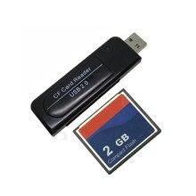Cartão compacto industrial do cf do flash com leitor de cartão de usb2.0 64 mb 128 mb 256 mb 1 gb 2 gb + leitor do cartão 2.0 do cf