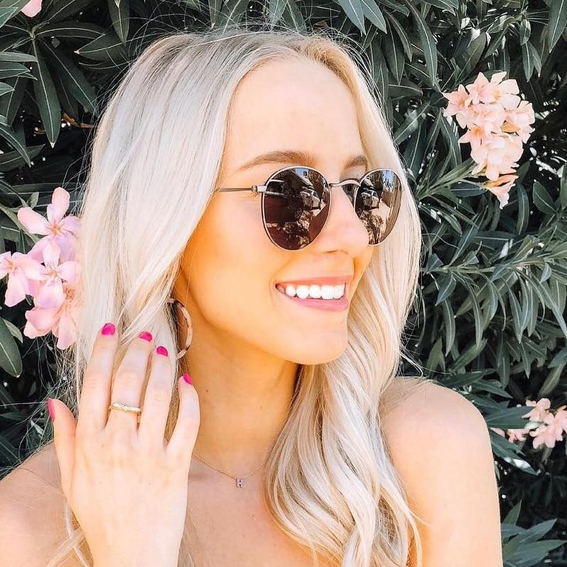 2020 Round Retro Sunglasses Women Brand Designer Female Mirror Sunglasses Ray Pink Luxury Sun Glasses Lady UV400