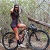 20-kafitt-9d-gel almofada ciclismo mulher triathlon ciclismo camisa de uma peça vestido pequeno macaco manga curta terno competição 1