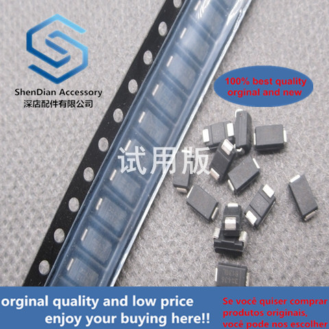 50pcs 100% Orginal New B130-13-F Silk Screen B130 SMA DO-214AC Schottky SMD Diode 100 Yuan 15 Yuan