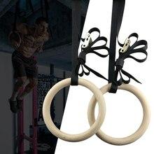 Профессиональные березовые 1 пара гимнастических колец длинные пряжки ремни фитнес-тренировочное кольцо подъемная веревка гимнастические аксессуары для спортзала
