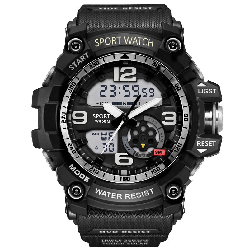 2019 G Estilo Relógios dos homens Negros Sports Watch LED Digital 3ATM Choque Masculino Relógio relógios À Prova D' Água Relógios Militares S masculino