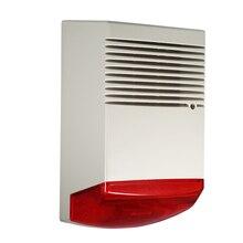 Проводная Стробоскопическая сирена, звуковой светильник, звуковой сигнал, динамик, дымовая сигнализация, наружная, водонепроницаемая, охранная сигнализация, для дома