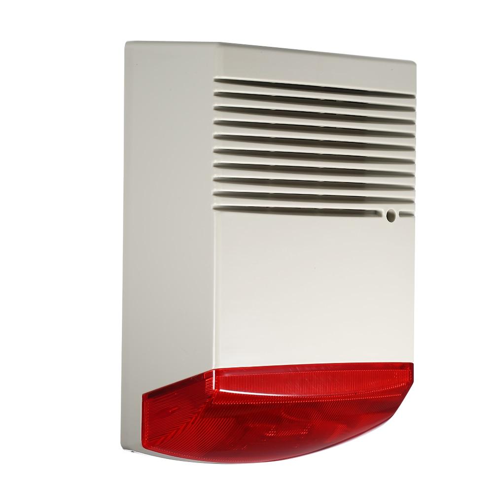 Wired Strobe Siren Sound Light Alarm Horn Alarm Sound Speaker Smoke Alarm Outdoor Waterproof Alarm Systems Security Home