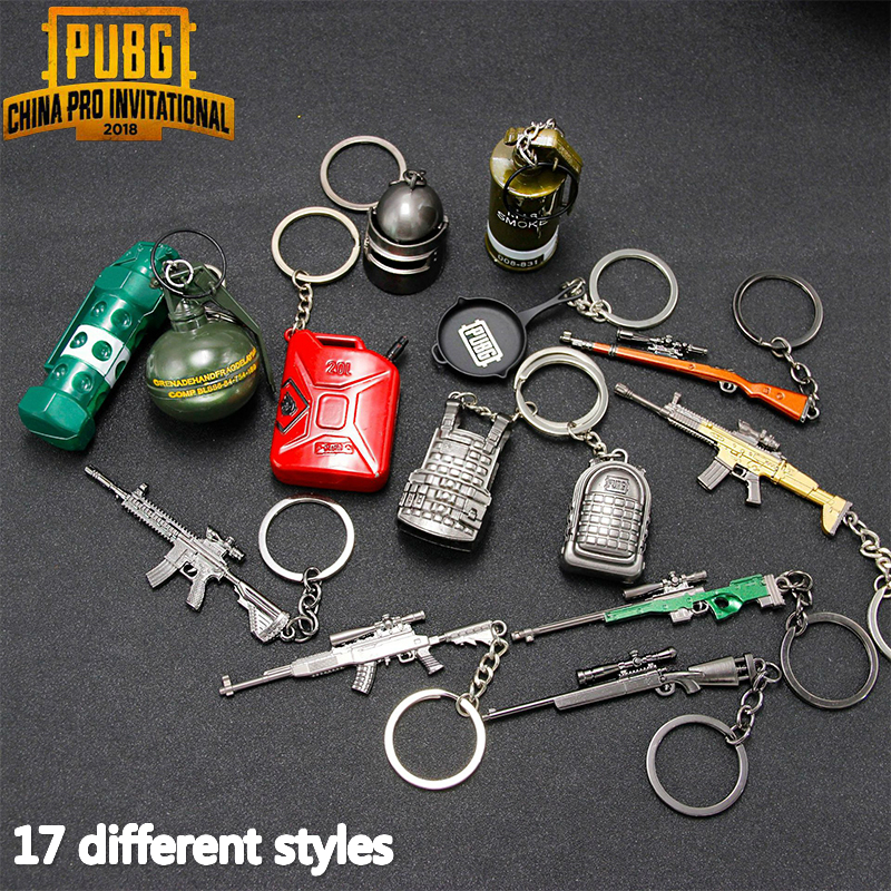 PUBG Keychain Cosplay Keyring Prop PLAYERUNKNOWNS BATTLEGROUNDS Helmet Backpack Key Ring Gift Prop