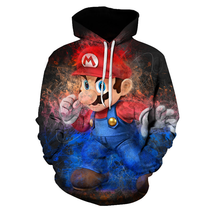 Classic Cartoon Mario Bros 3D Print Jacket Men/Women Casual Streetwear Hoodie Man Cute Clothes Sweat Pour Homme Harajuku