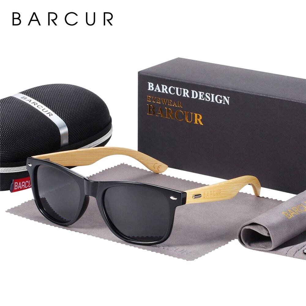 BARCUR Gafas De Sol Polarizadas De Bambú Gafas De Sol De Madera Para Hombre Gafas De Sol Originales De Marca Para Mujer