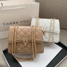 Lingge chain bag new fashion retro small square bag women