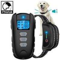 1000ft Elektrische Hund Ausbildung Kragen Haustier Fernbedienung Barkproof Halsbänder für Hunde Vibration Sound Schock Wiederaufladbare Wasserdicht