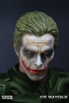 "Collectible 1/6 Scale European / American heroes Young master Batman Joker Makeup Model Head Carving fit 12"" Male body Model Toy"