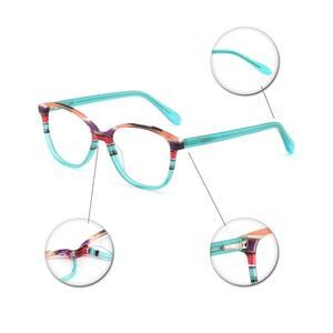 Image 5 - OCCI CHIARI Spring Hinges Prescription Lens Medical Optical Eyeglass Woman Frame Stripes Colorful Navy Red Italy Design W CORRU