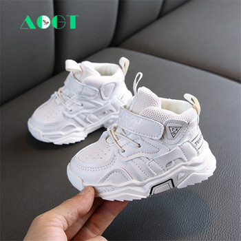 AOGT 2020 Autumn Baby Girl Boy Toddler Shoes Infant Casual Walkers Shoes Soft Bottom Comfortable Kid Sneakers Black White