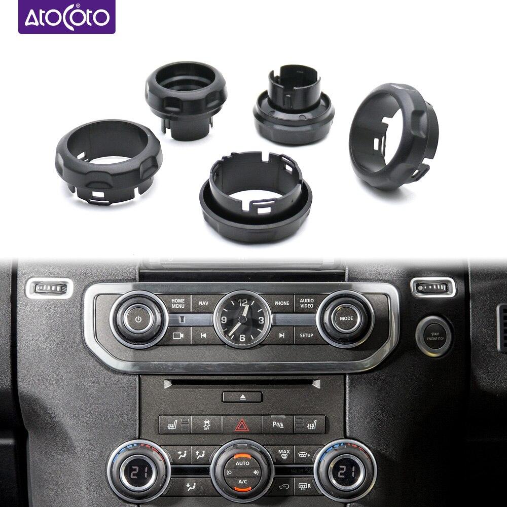 Volume do painel carro botões de ar condicionado interruptor para land rover discovery 4 lr4 range rover esporte decorativo botão cobrir