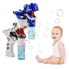 Автоматическая машина для пузырей динозавра с музыкальным светом, электрическое устройство для мыльных пузырей, Детская наружная ванна для купания, мыло, ручная игрушка в подарок