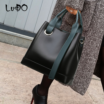 LUCDO Fashion Solid color Handbag Top-handle Crossbody Bag for women 2020 Simple style Lady Shoulder Messenger Shopping Bags