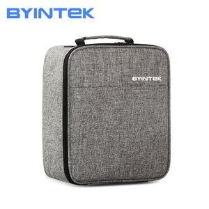 Byintek estojo de armazenamento de projetor, bolsa de viagem, para céu k1 k2 k7 k9 ufo r19 r15 u20 pro xgimi z6 z6x mogo jmgo p2 i6