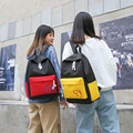 2019 novo estilo de moda coreano-estilo náilon contraste cor impresso 100 pontos estilo faculdade mochila