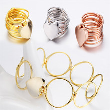 Retractable Ring Bracelet Variable Dual-Use Love Folding Bangle For Eternal Couple Jewelry