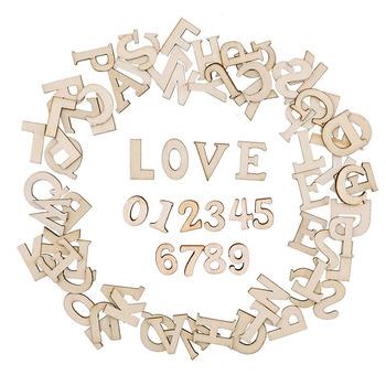 100 sztuk drewna alfabetu angielskiego ozdobne litery drewniane numery Mini ozdoby z drewna Scrapbooking sztuka DIY rzemiosło do dekoracji tanie i dobre opinie CN (pochodzenie)