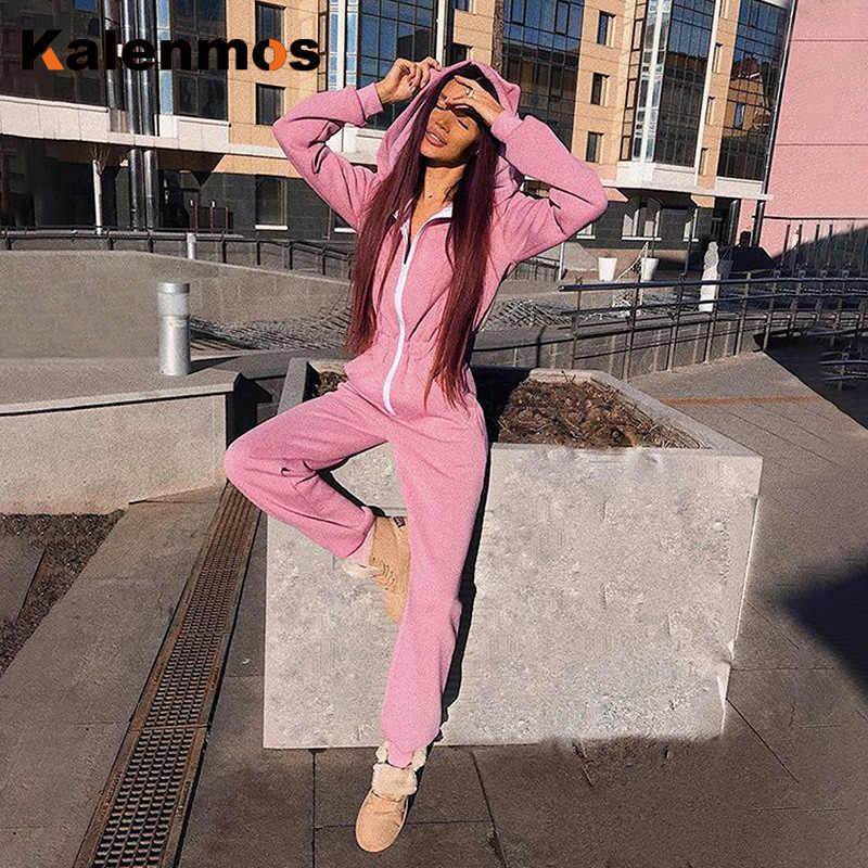 Agasalho solto com capuz gato orelha rosa terno zip bolso longo moletom magro casual bonito sólido plus size macacão sexy feminino