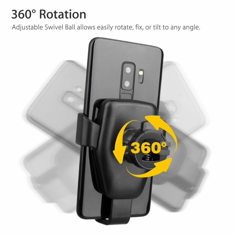 Портативный беспроводной держатель для зарядки телефона, прочный автоматический зажим, быстрая зарядка, автомобильное зарядное устройство, кронштейн, подставка, крепление для IPhone X