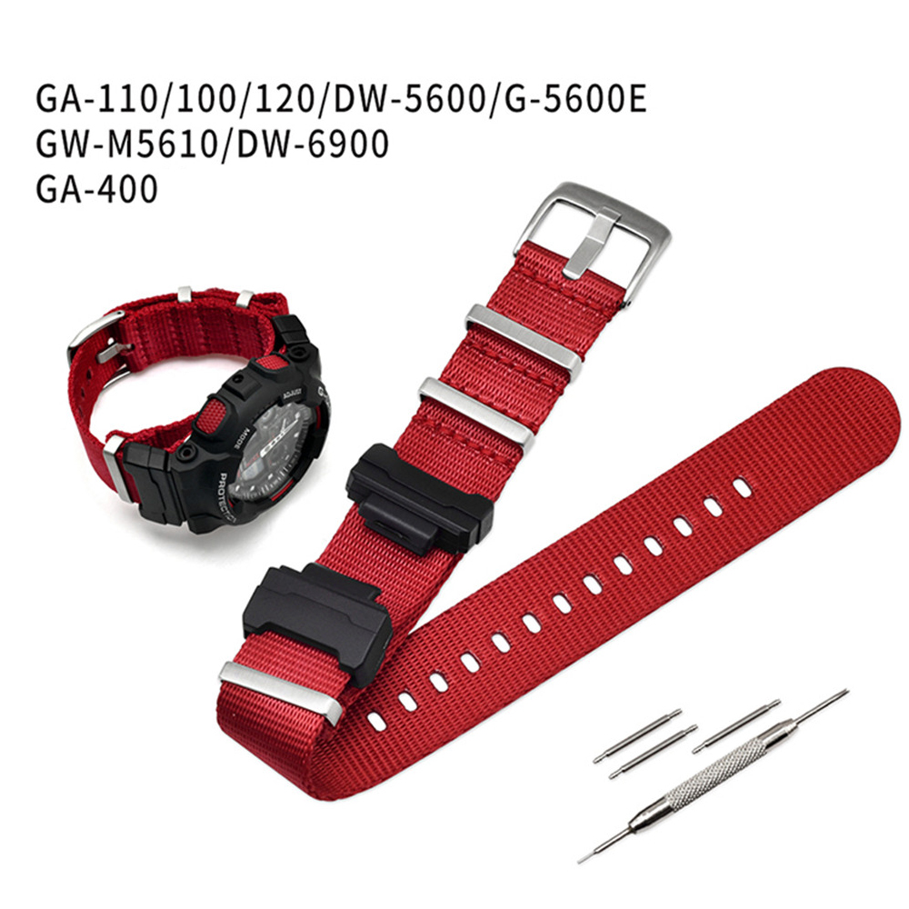 Nylon NATO Replacement Watchband For Casio G-Shock GA-110/100/120/150/200/400 GD-100/110/120 DW-5600 GW-6900 Bracelet Strap Band
