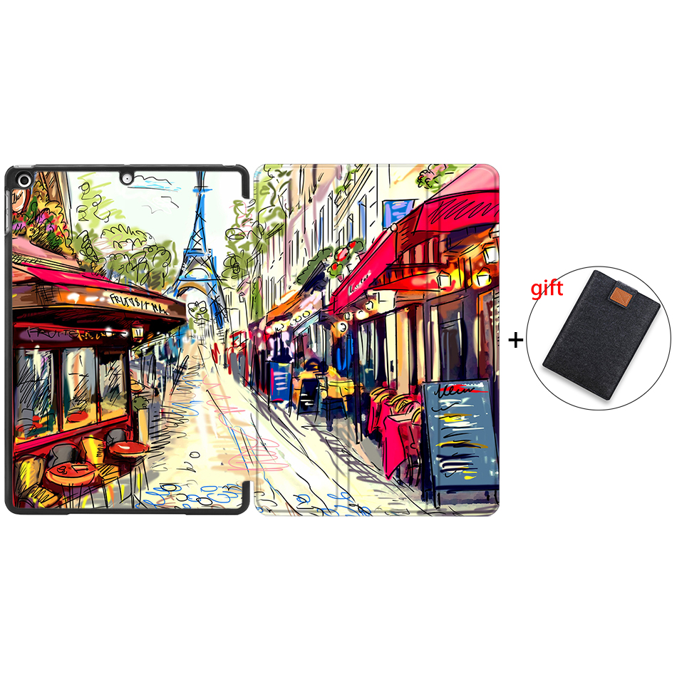 IP15 Brown MTT Tablet Case For iPad 10 2 inch 7th 8th Generation 2019 PU Leather Flip Stand
