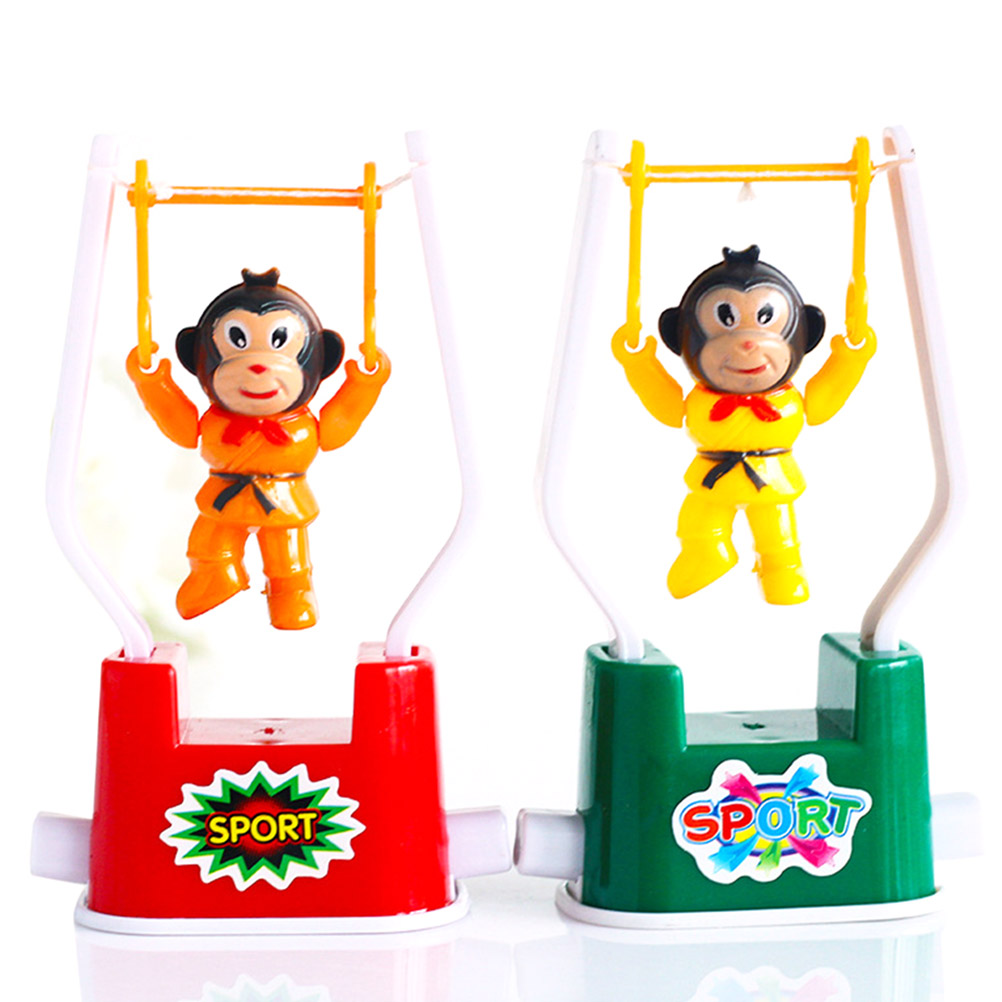 Random Color Creative Moving Swing Monkey Gymnastics Toy Kids Toy Gift 80 Nostalgic Tumble Booth Goods Kids Birthday Gift