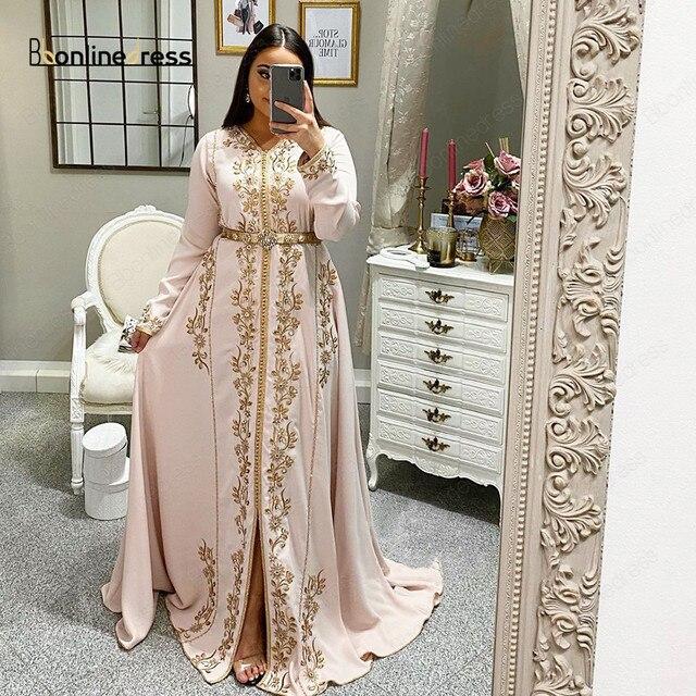 Big Sale 754f1 Bbonlinedress Moroccan Kaftan Evening Dresses Embroidery Crystal 2020 Muslim Dubai Arabic Caftan Dress Robe Marocaine Mariage Cicig Co