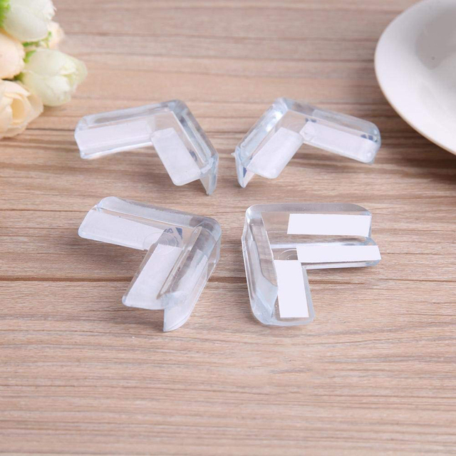 4PCS/Set Clear Child Baby Safety PVC Protector Table Corner Edge Protection Cover Children Anticollision Edge & Guards 2