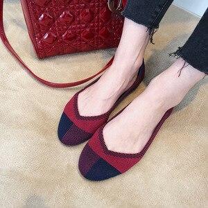 Image 3 - 여성 플랫 슈즈 Zapatos De Mujer 가을 2019 라운드 플랫 슈즈 로퍼 발레리나 Femme Tenis Feminino 캐주얼 블랙 레이디스