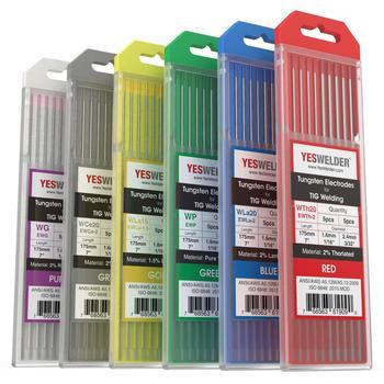 YESWELDER 10-pk TIG Welding Tungsten Electrode WP/WT20/WC20/WL15/WL20/WX - sale item Welding & Soldering Supplies
