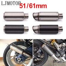 Sistema de escape de fibra de carbono modificada para motocicleta YAMAHA mt07 mt09 fz07 fz09 mt/fz 07 09 mt10 xsr 700 900 R1 R3