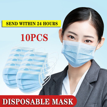 10Pcs/Pack Profession Disposable Mask Surgical 3-Ply N95 KF94 Nonwoven Disposable Elastic Mouth Flu Hygiene Face Mask