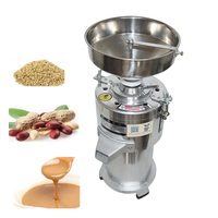 15kg / h Commercial Sesame Peanut Grinding Miller Pistachio Stuff Grinder Pulping Machine 1100w Sesame Paste Machine 2800R / min