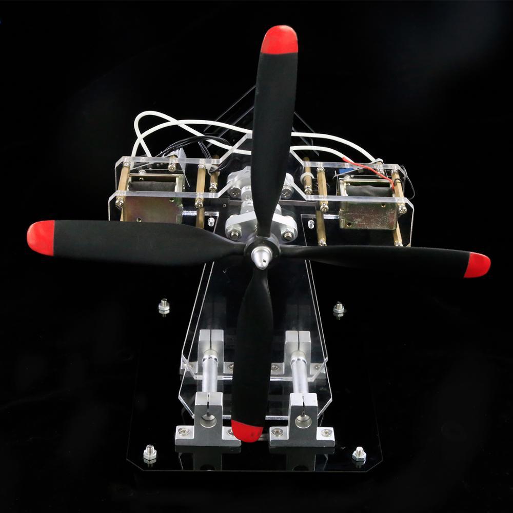Moteur électro-aimant jouet moteur étoile moteur multi-cylindres modèle de moteur d'avion Science créative expérience cadeau bricolage - 5