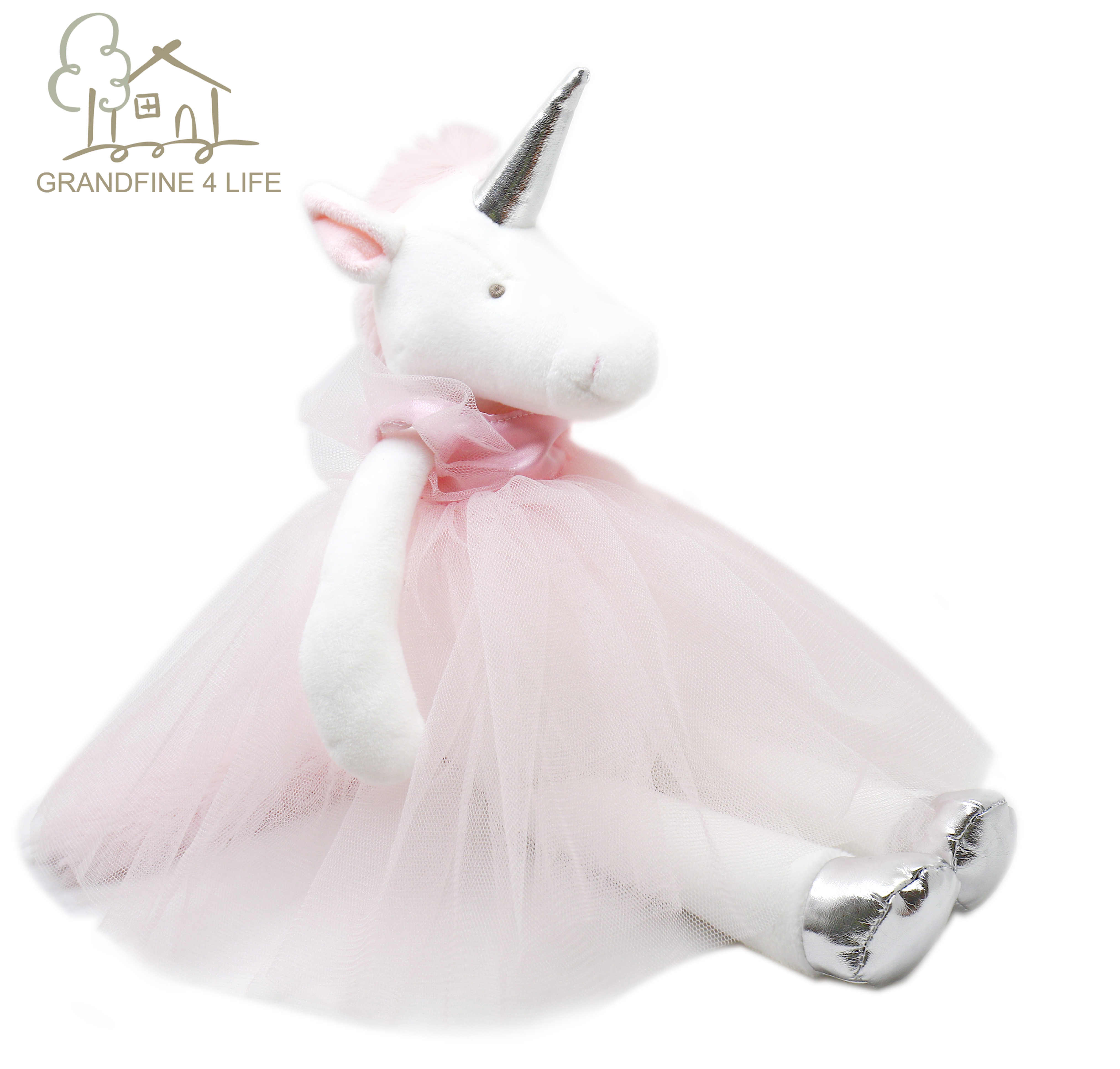 Luksusowe Mogo Ballerina jednorożec pluszowe wypełnione lalki z odpinaną Tutu sukienka dzień dziecka prezent różowa księżniczka jednorożec dziewczyna lalka