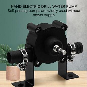 цена на Water Pump Oil Water Fluid Miniature Self Priming Transfer Pump Electric Drill Drive Pump Two Connectors For Drill Chucks