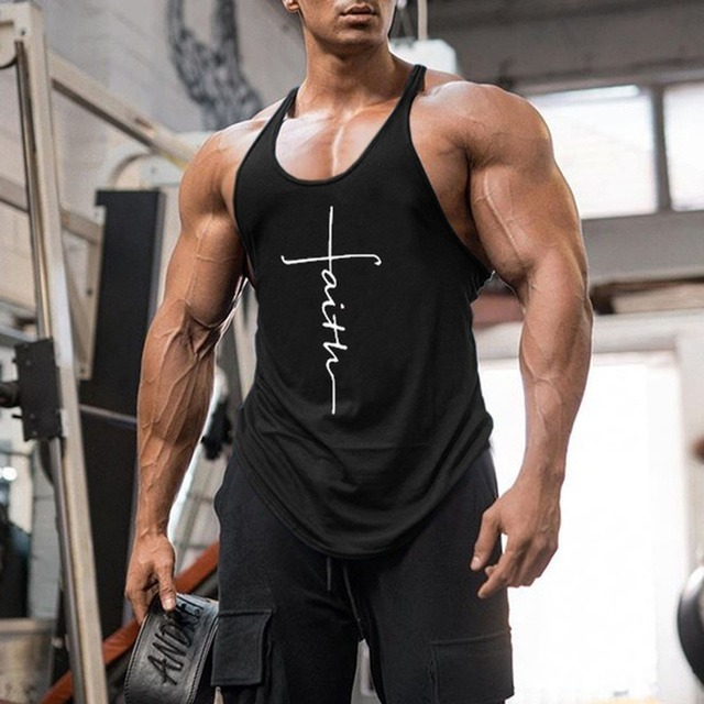 Gym Tank Top Men Fitness Clothing Mens Bodybuilding Tank Tops Summer Gym Clothing for Male Sleeveless Vest Shirts Plus Size 2