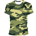 2021 summer camouflage top, new 3D men's T-shirt, leisure sports T-shirt, 3D quick dry printing T-shirt