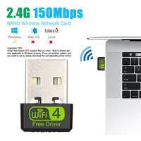 WD-1513B-tarjeta de red inalámbrica 2,4G, Mini adaptador Wifi portátil USB 2,0, Dongle Wi-Fi 150 b/g/n de 802,11 Mbps