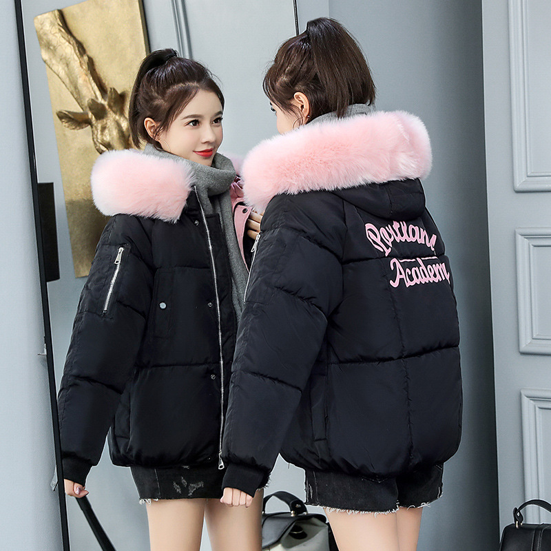 Photo Shoot 19 Autumn And Winter New Style Down Jacket Cotton-padded Clothes Women's Short College Style Cotton-padded Clothes O