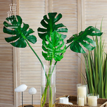 Fake-Plants Palm-Tree-Leaves Hotel-Decoration Tropical Large Home Garden Long-Green 70-80-90-100cm